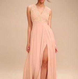 Lulu's Dresses - Lulus Blush Full Length Dress